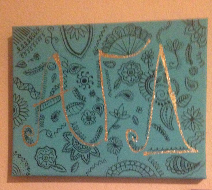 Alpha Gamma Delta Big Little 2015 Letter Sorority Canvas