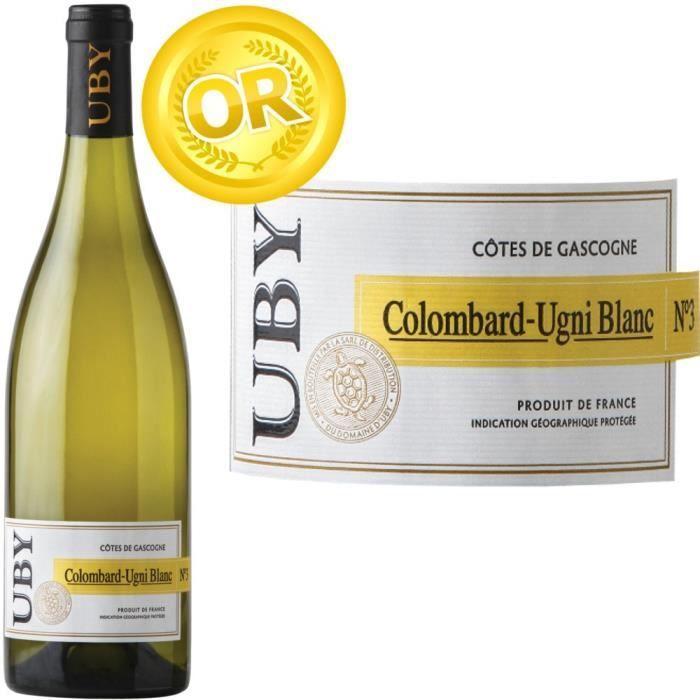 UBY Côtes de Gascogne Colombard Ugni Blanc - 4.75€
