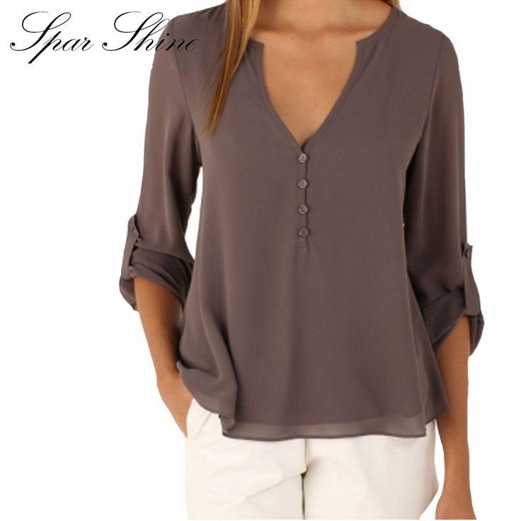 Off Shoulder Long Sleeve V-Neck Women's Tops Summer Style Solid Blusas Femininos Women Blouses Shirt