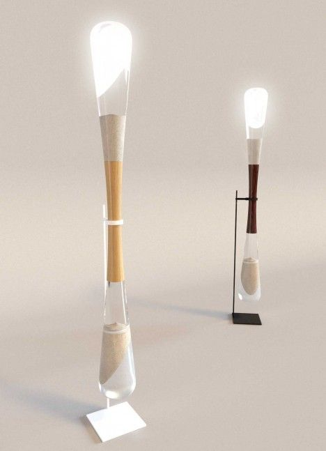 Hourglass Lamp: Grid-Free LED Powered by Falling Sand