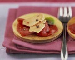 Carpaccio de boeuf aux copeaux de foie gras - Une recette CuisineAZ
