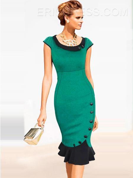 Turndown Collar Little Party Dress Little Party Dress- ericdress.com 11299076