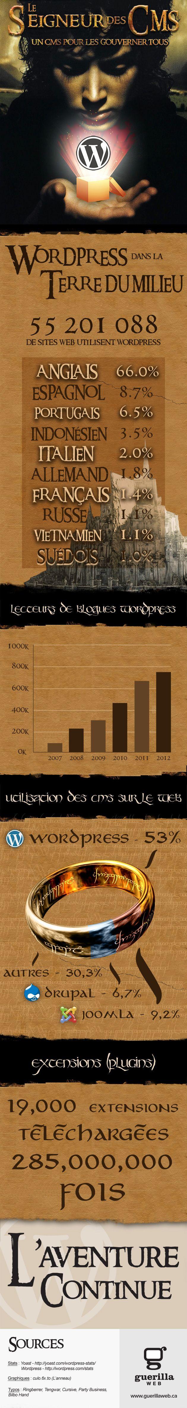[infographie] Utilisation du CMS Wordpress