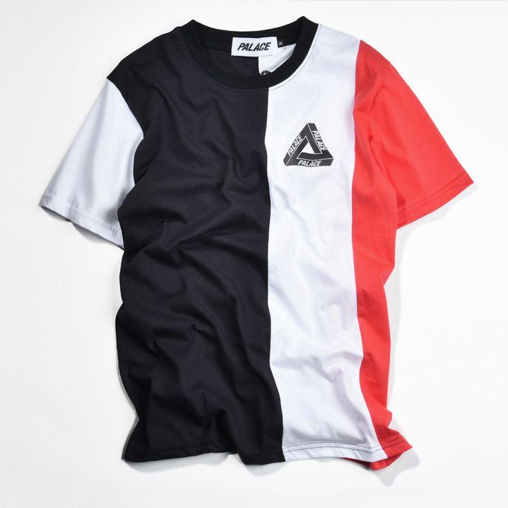 Palace T Shirt Men Hip Hop Fashion Skateboard VERTICAL TRI Stripe Palace Tide 1:1 High Quality Tee Shirt Kanye West Flag T-shirt  #bagshop #WomenWallets #Happy4Sales #highschool #kids #bag #YLEY #L09582 #handbags #shoulderbags #fashion #backpack  #NewArrivals