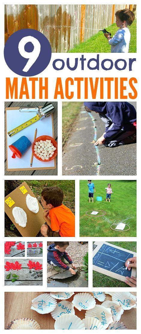 Take math outside with these awesome math activities for prek and kindergarten Frugal Summer Activities, Summer Kids Activities #summer