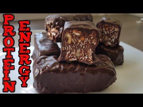Proteinove tycinky / domace Energeticke tycinky / fitness recept / Energy bars / Zdrave cokoladove - YouTube