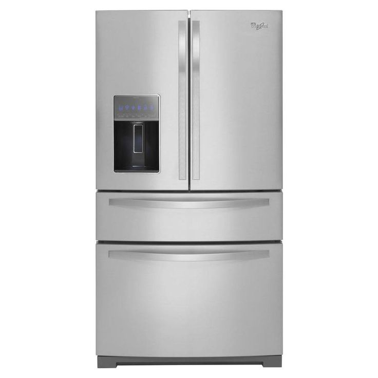 Whirlpool Gold 26.2-cu ft 4-Door French Door Refrigerator with Ice Maker (Monochromatic Stainless Steel)