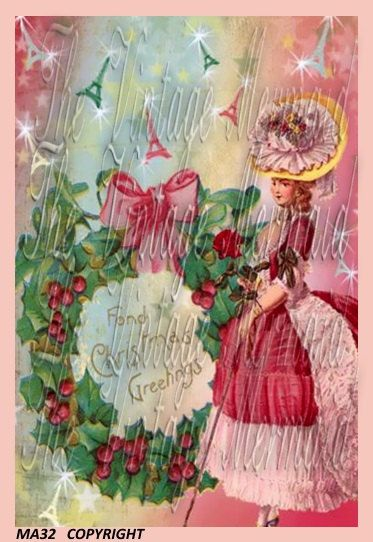 M32 Marie Antoinette Christmas Quilt Fabric by QUILTFABRICBLOCKS
