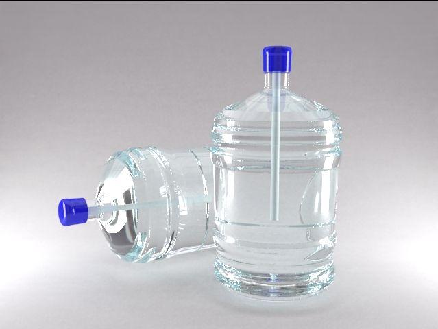 3д визуализация модели бутылки для воды