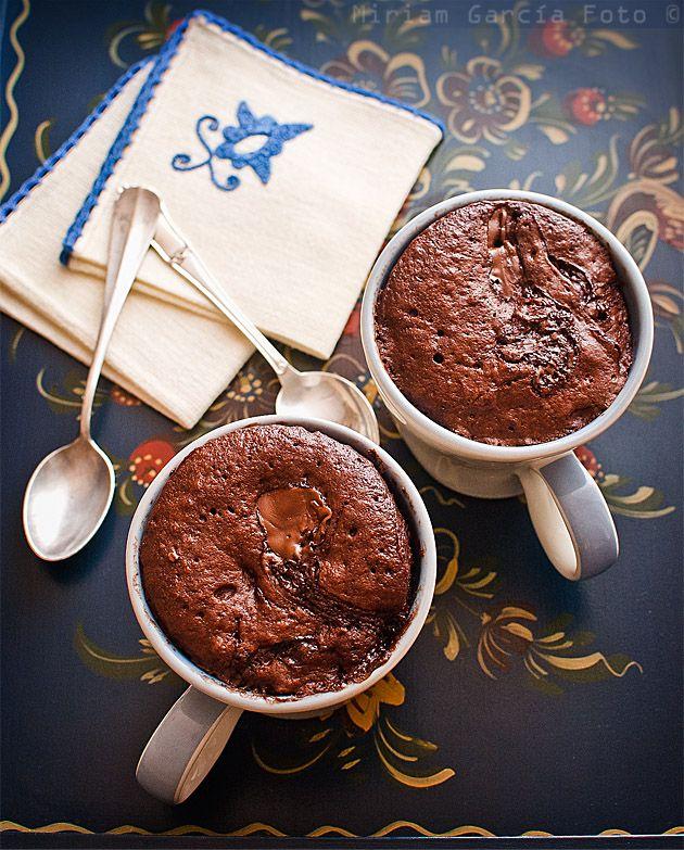 Bizcocho de chocolate en taza | Recetas con fotos paso a paso El invitado de invierno
