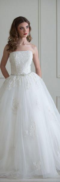 Emmaline pleated lace dress
