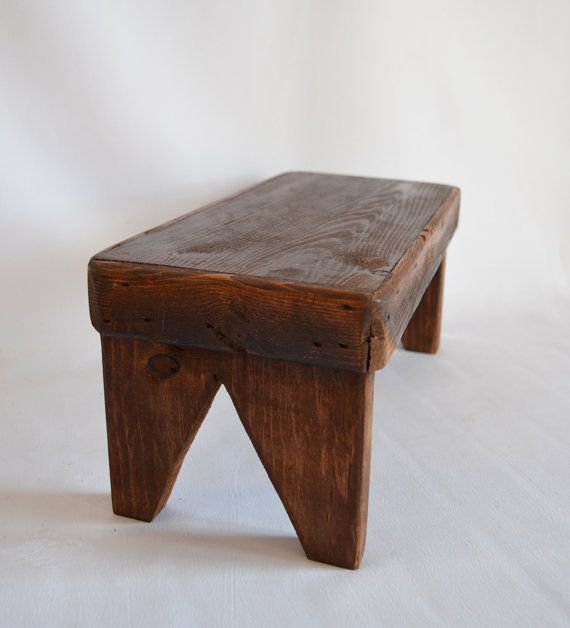 Hey, I found this really awesome Etsy listing at https://www.etsy.com/listing/185746026/vintage-small-wooden-stoolbenchrustic