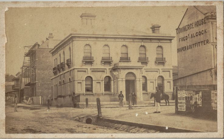 Australian Joint Stock Bank, (AJS) (12) Newcastle, circa 1870s (Photo Credit: Digitised by Anne Glennie from Glennie Family Albums) Click for larger view