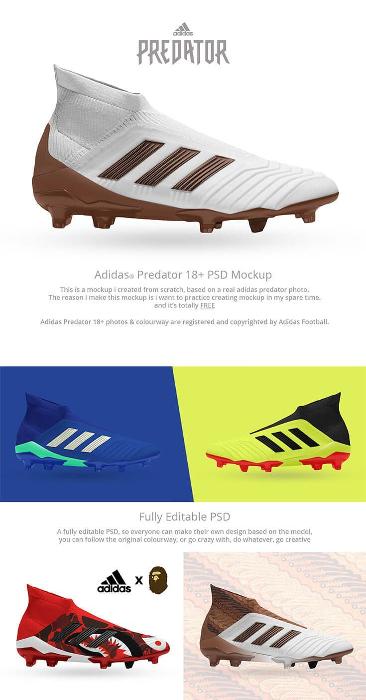 online store 12ef9 b0189 Free Adidas Predator PSD Mockup is coming from Angga Kuntara. It is a fully  editable psd mockup, so everyone can make their own design based on the  model, ...