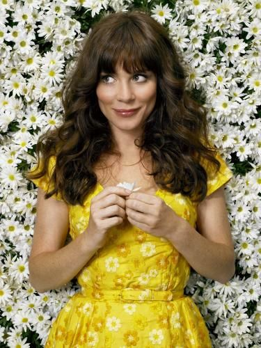 I want...this delightful yellow dress worn by Chuck in Pushing Daisies