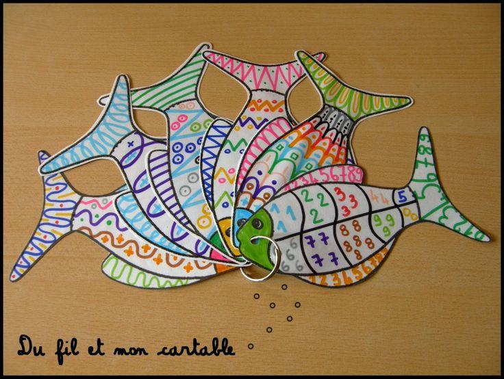 Du fil et mon cartable: coin graphisme maternelle poisson