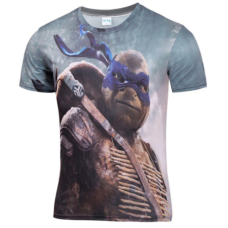 Anime Ninja Turtle Shirts Full Printed Jersey Material //Price: $16.48 & FREE Shipping //     #hashtag2