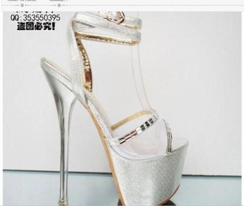 17cm Womens Platform Open Toe Sexy Sandals High Heels Ankle Strap Buckle Shoes G