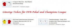 Günstige Tickets für DFB-Pokal und Champions League hier buchen