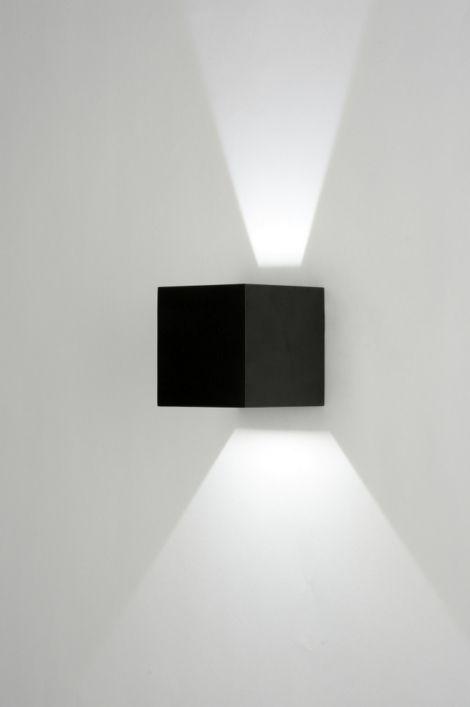 Applique Murale 71976: Moderne, Design, Aluminium, Noir