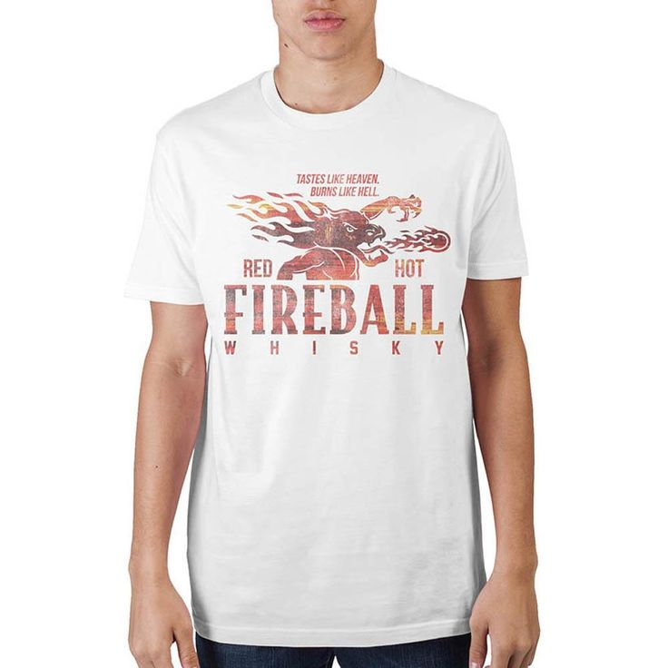 Fireball Whiskey White T-Shirt