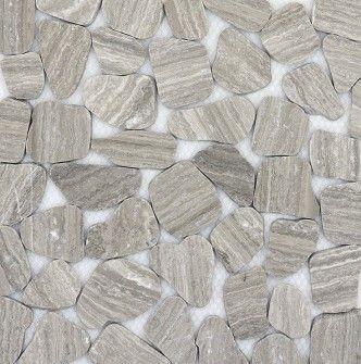 gray sliced pebble tile