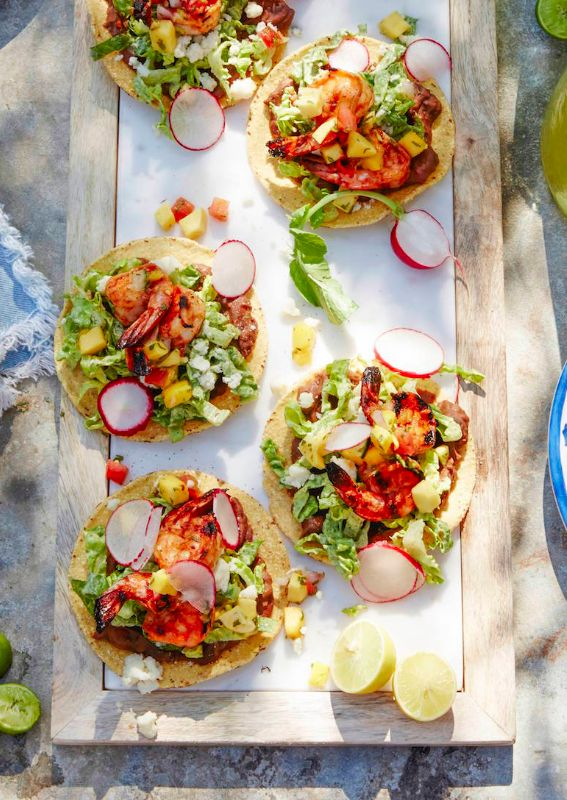Spicy Shrimp Tostadas from www.whatsgabycooking.com  - one of my favorite ways to entertain! (@whatsgabycookin)