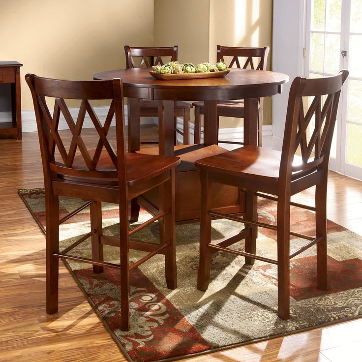 High top kitchen table set furniture pinterest high for Kitchen table and stools set