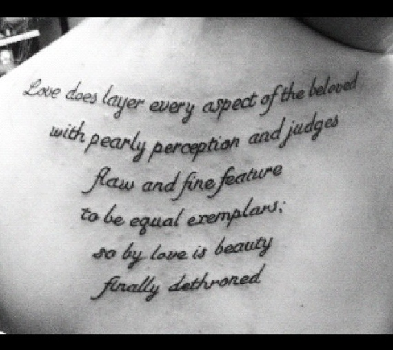 My back quote... #tattoo #quote
