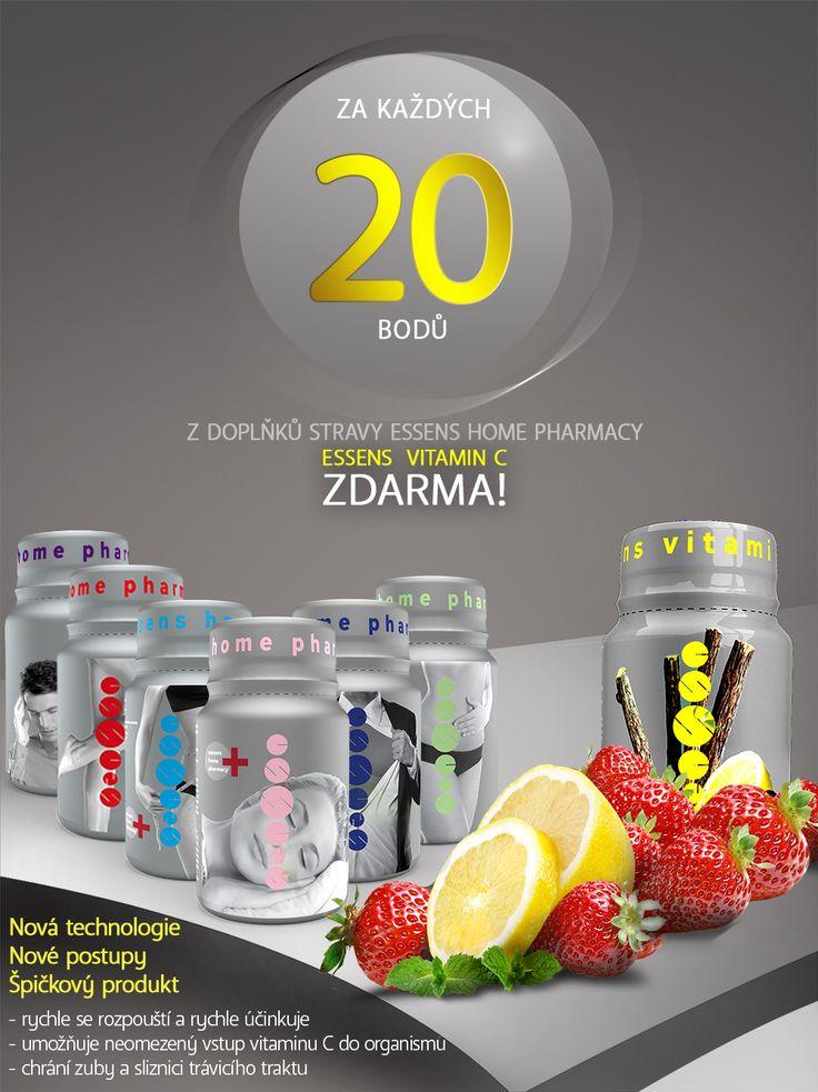 ESSENS VITAMIN C ZDARMA! dopřejte si vitamin C po celý rok! Od dnešního dne získáte ESSENS Vitamin C ZCELA ZDARMA za každých 20 bodů získaných za nákup výrobků z produktové řady ESSENS Home Pharmacy. http://www.essens-czech.cz/essens-home-pharmacy/