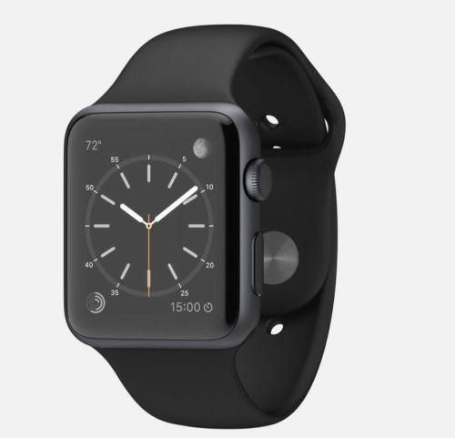 Na-mao-agora-em-todo-o-mundo-frete-Relogio-Apple-Iwatch-42mm-espaco-Faixa-Preta-Cinza