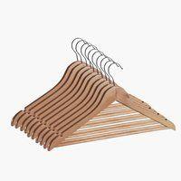 Vešiaky SIGFRID 10 ks drevo