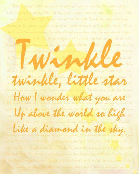 56 best A Twinkle twinkle images on Pinterest   Twinkle twinkle ...