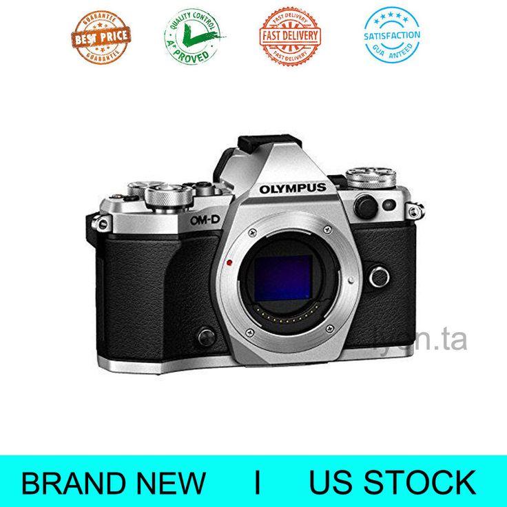 Silver Olympus Digital Camera OM-D E-M5 Mark II 16.1 MP-Body Only