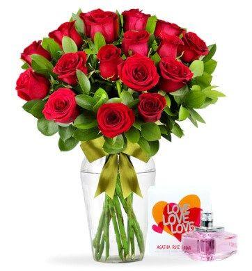 24 Rosas con Perfume Love Agatha