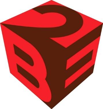 2BE heeft een strak, opvallend 3D logo. Het felrood valt op tegenover de donkerdere 2de kleur.
