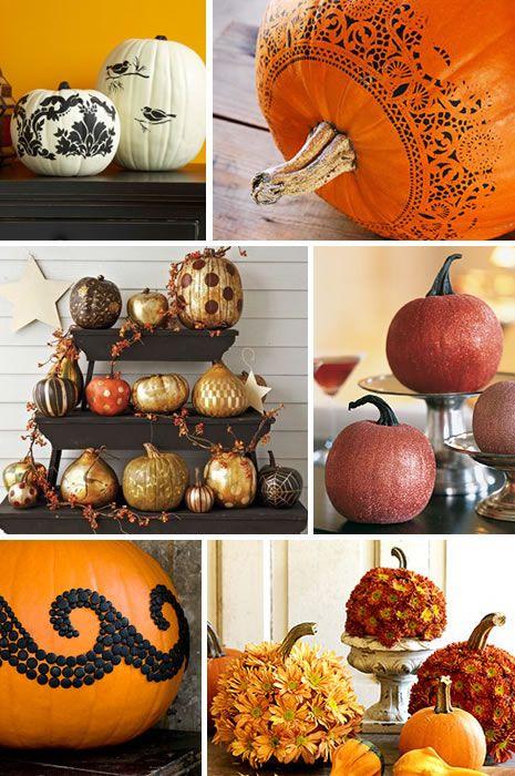 Can't Carve a Pumpkin, No Problem.Pumpkin Ideas, Halloween Decor, Fall Decor, Decor Pumpkin, Halloween Pumpkin, Pumpkin Decor, Pumpkin Painting, Carvings Pumpkin, Talk Crafty