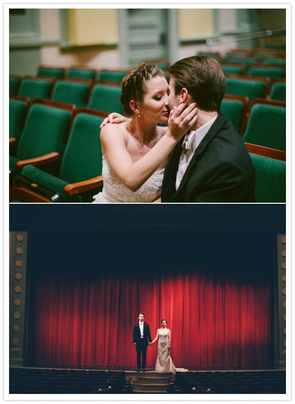 The Mary C. O'Keefe Cultural Center in Ocean Springs Mississippi//Theater Wedding  Bridal Crown by Thrifty Chic Love