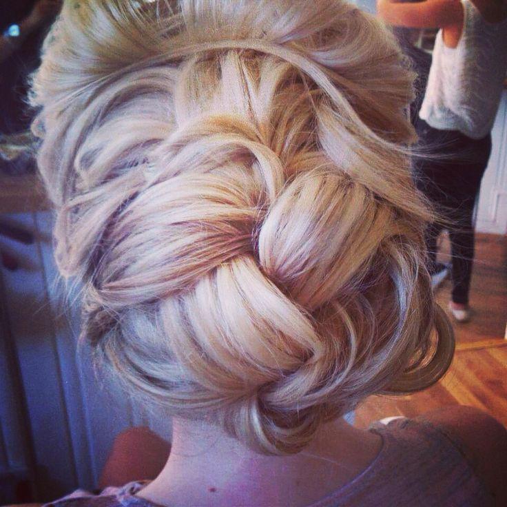 intertwined romantic bridal hair