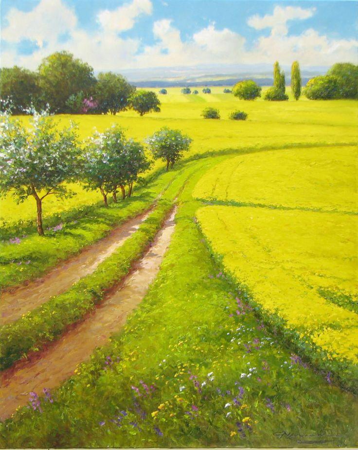 "Gerhard Nesvadba ""Winding Wheatfields"" http://www.artshopnc.com/component/content/article/318.html"