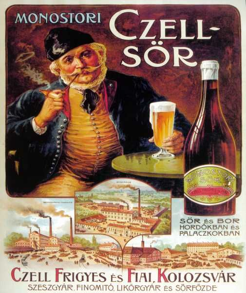 Monostori Czell-sör nosztalgia plakát poszter másolat