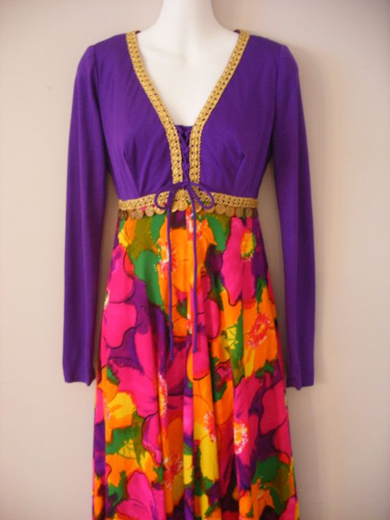 Vibrant Coloured Moroccan/Bohemian Vintage 70s by VintageEclectica, $149.00