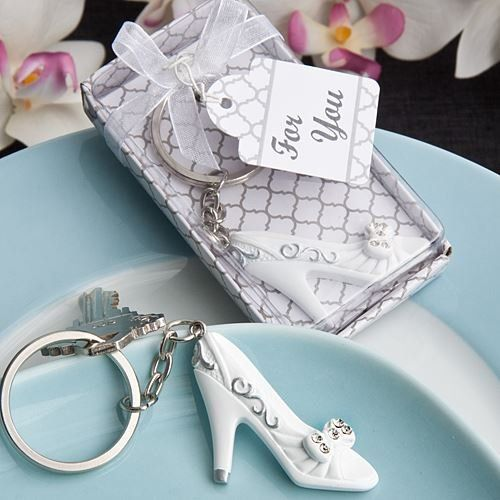 6 X Cinderella's Glass Slipper Keyring Wedding & Party Ba…