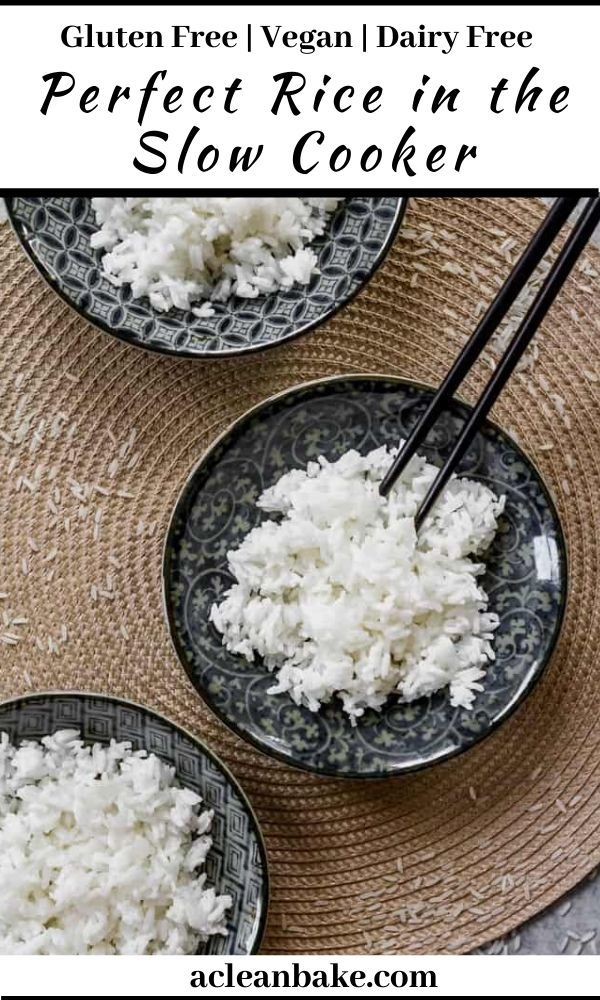 How To Make Perfect Rice In The Slow Cooker Recipe In 2020 Slow Cooker Dairy Free Recipes Easy Gluten Free Sides Dishes