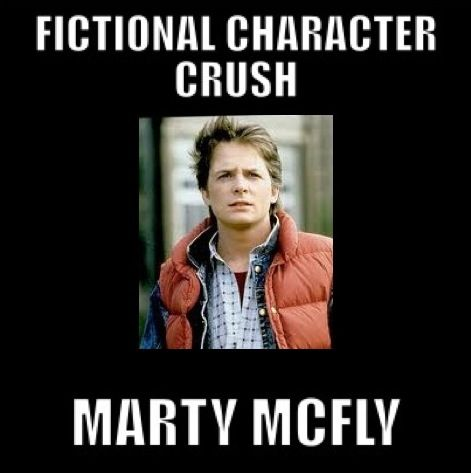 Fictional Character Crush: Marty McFly  from Back to the Future. Pardon me while I post all of these, I have so many fictional character crushes....