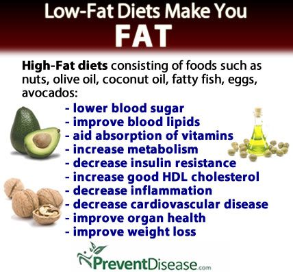 WHY LOW-FAT DIETS MAKE YOU FAT. Jjust as mandated healthcare policies fail at the federal level, so do those related to nutrition. The low-fat mantra has been questioned for years by clinicians and nutritional scientists--not least because it has failed t (Improve Cholesterol Coconut Oil)