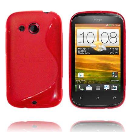 Läpikuultava S-Line (Punainen) HTC Desire C Suojakuori