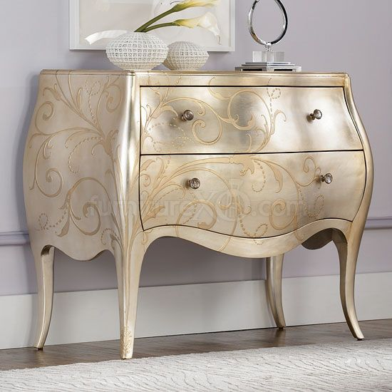 Brushed Silver Painted Dresser
