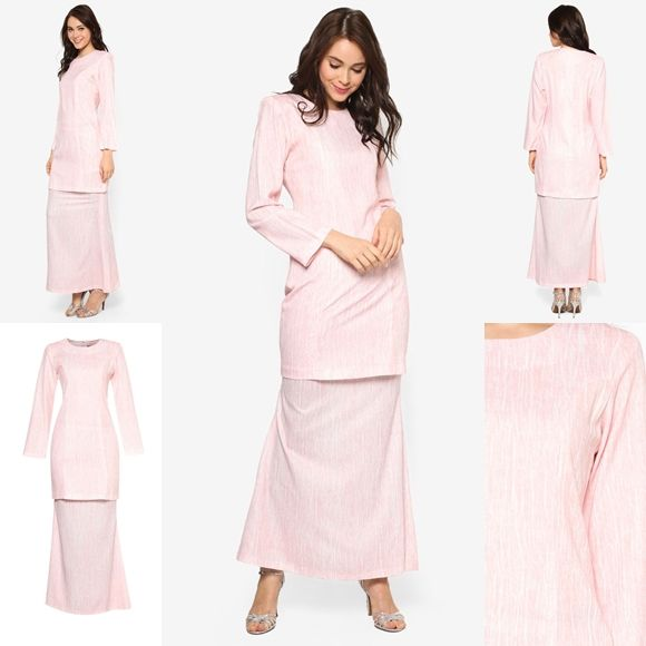 Fesyen Trend Terkini November 2016 Baju Kurung Moden Yazmein Pink By Butik Sireh Pinang   Baju Raya 2017