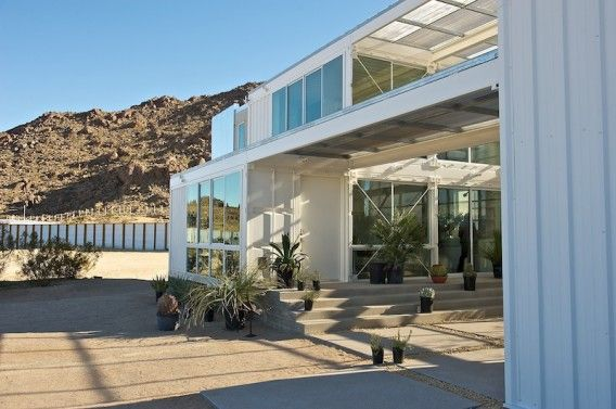 By ecotechdesign - The home, also known as The Tim Palen Studio at Shadow Mountain, was built with re-purposed shipping containers